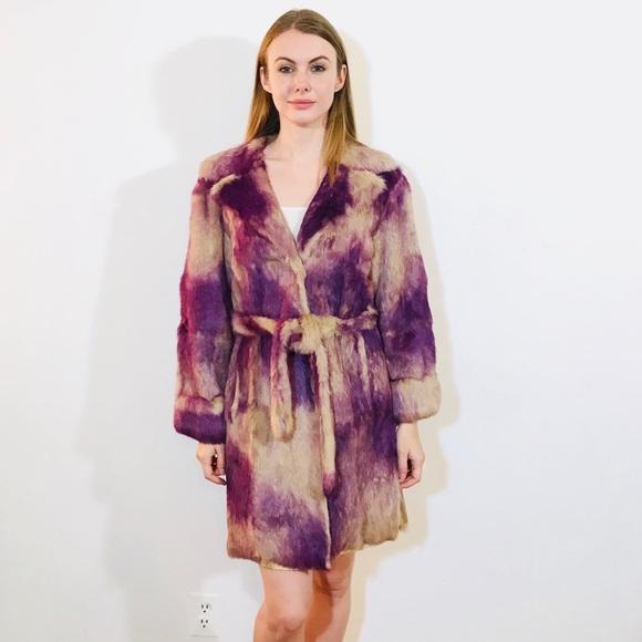 Versace Jackets & Blazers - VERSACE JEANS COUTURE LING HAIR RABBIT FUR COAT M